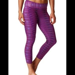 Prana Roxanne Purple Geometric Capri Leggings